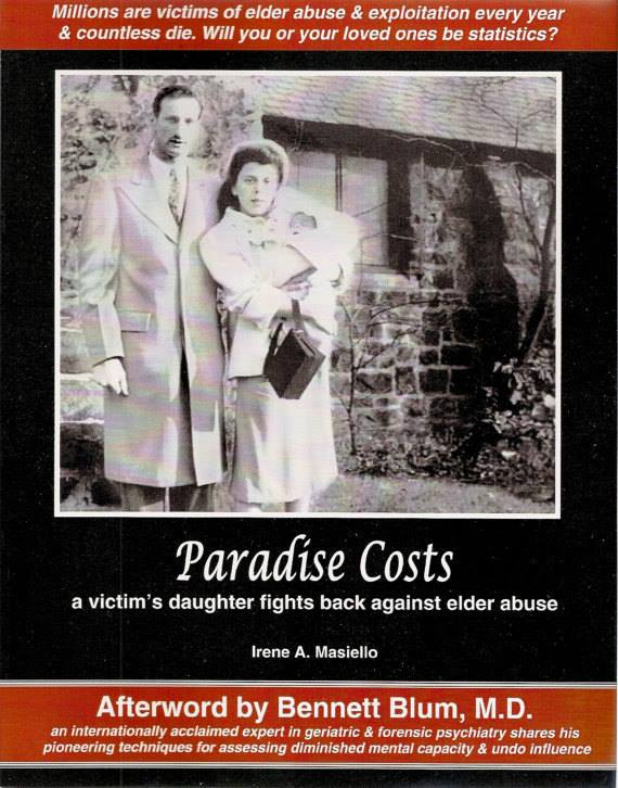 Paradise Costs book cover showing a young Mariello Masiello with his wife and child.